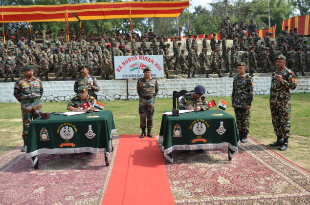India-Nepal Army exercise Surya Kiran ends