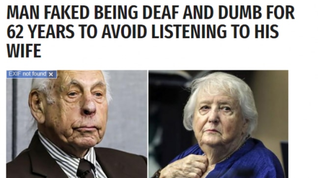 Fact Check: Wife divorced husband for faking as deaf and dumb is a fictitious story