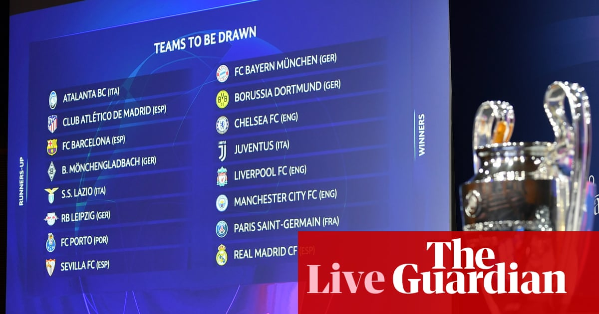 Champions League last-16 draw: Liverpool face Leipzig, Chelsea play Atletico - live!