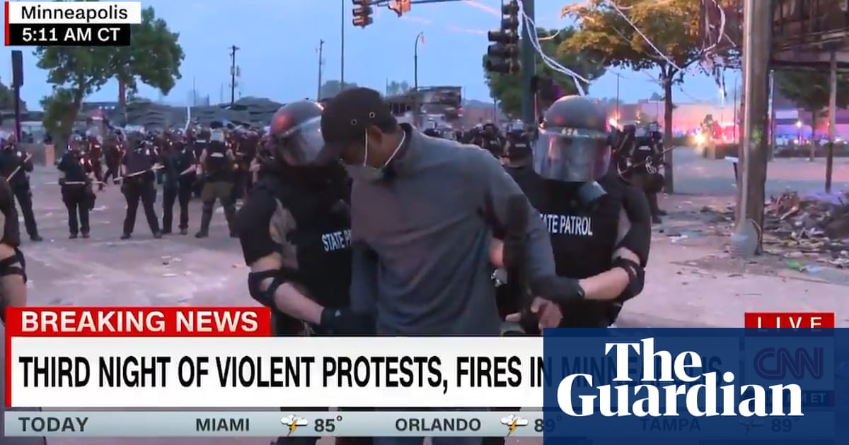 Black CNN reporter arrested on air at protests over George Floyd killing