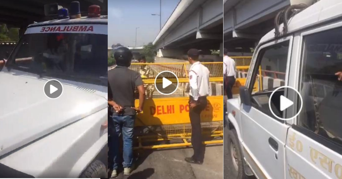 Unrelated video from 2017 shared to claim Delhi police halted ambulance for BJP MP Manoj Tiwari - Alt News