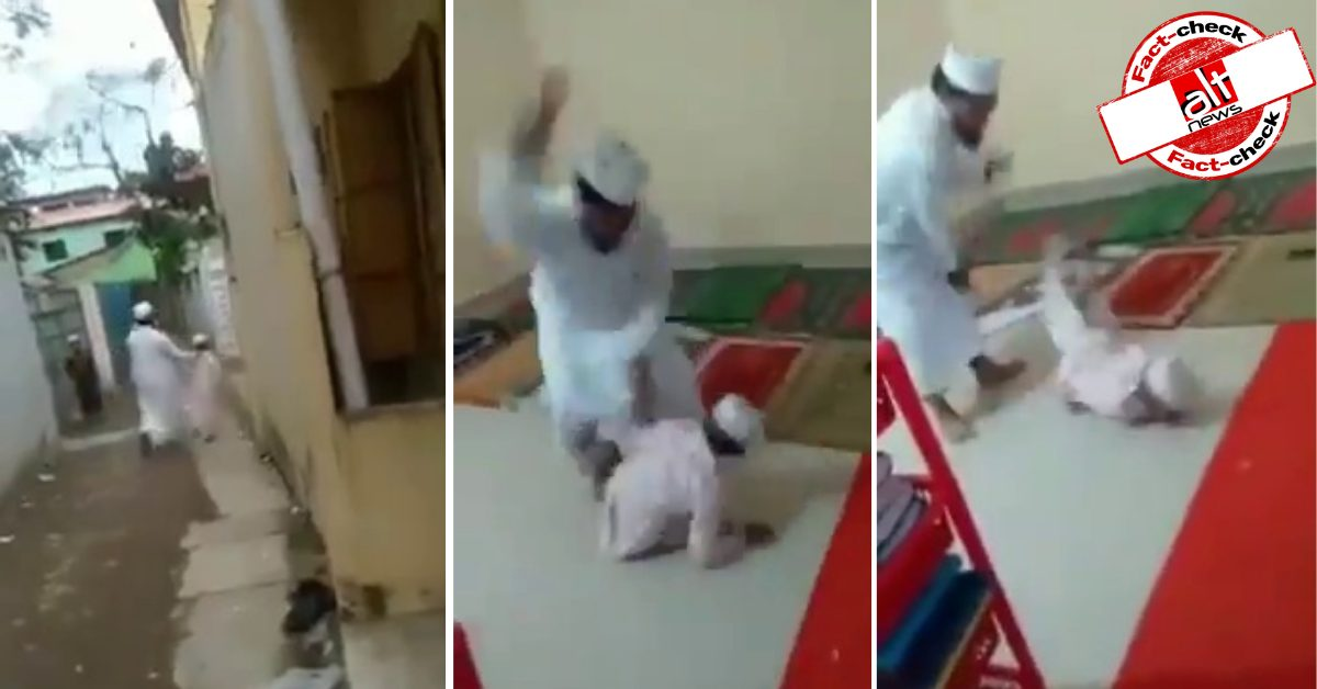 Video of child beaten inside madrasa is from Bangladesh - Alt News