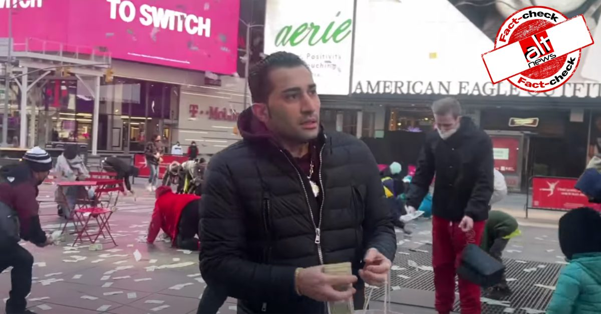 Video of man tossing money on New York streets is not related to COVID - Alt News