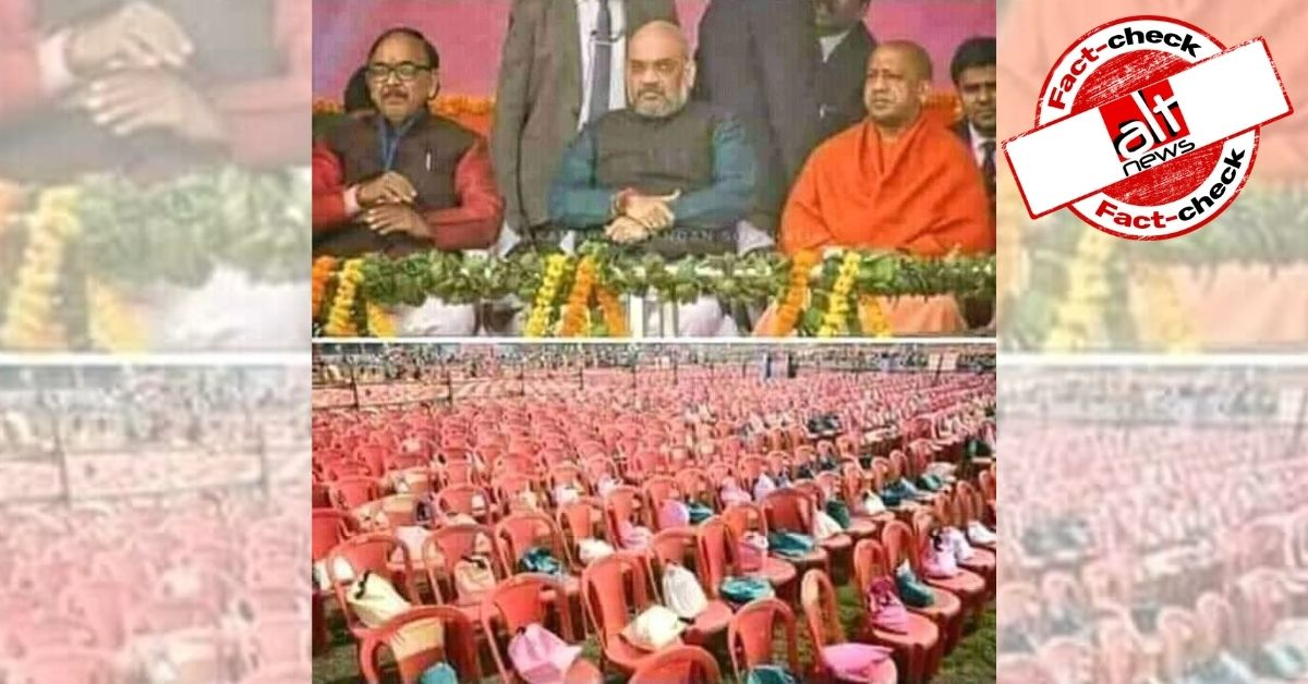 Photo of empty chairs at Amit Shah's address was taken in Varanasi in 2018 - Alt News