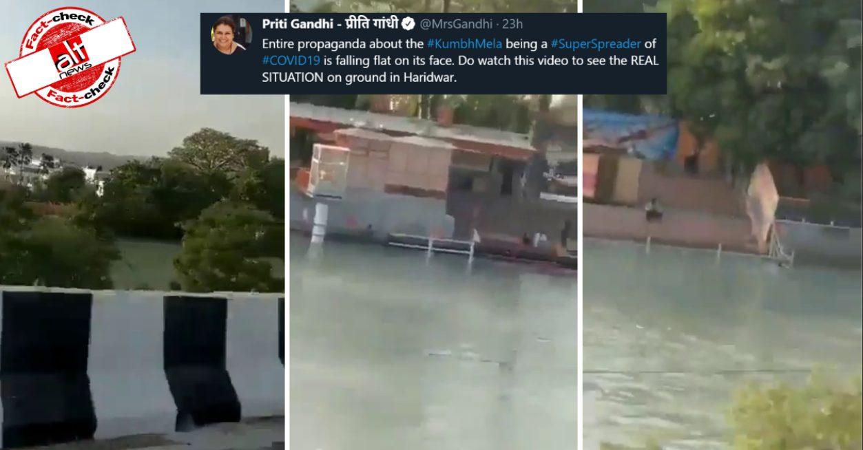 No crowd in Haridwar for Kumbh Mela? Fact-checking misleading video - Alt News