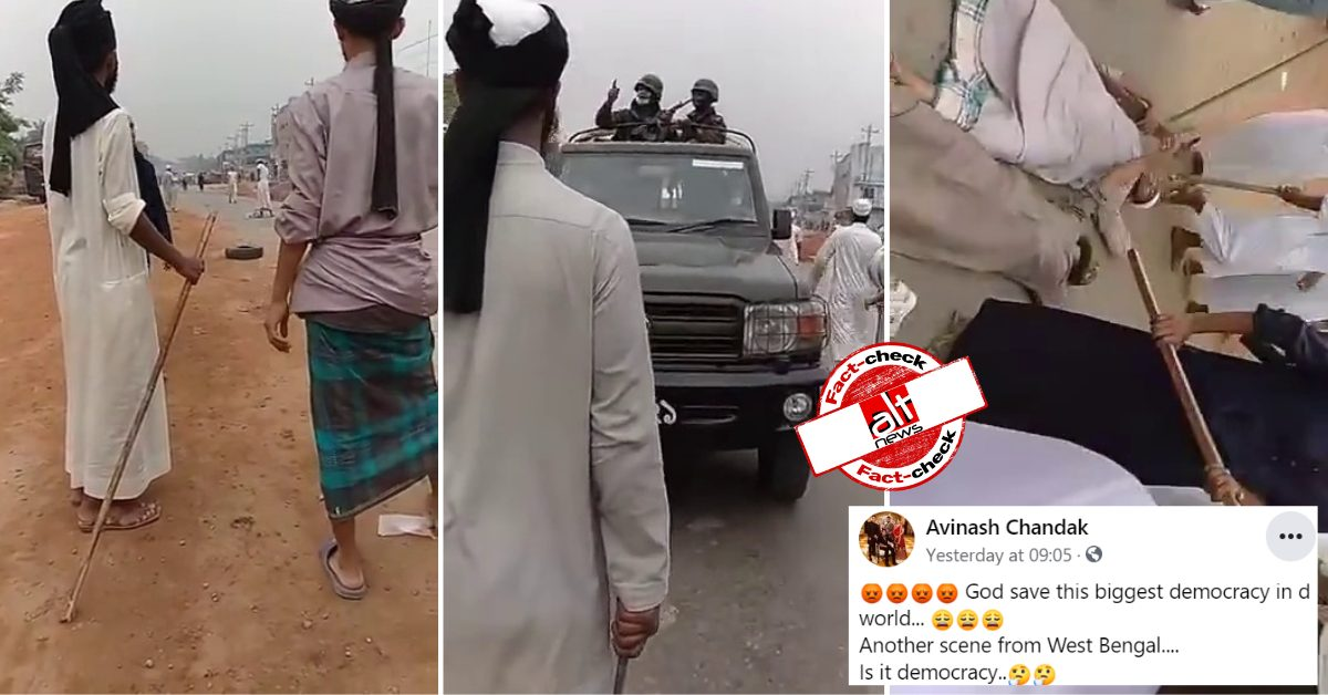 Video from Bangladesh viral as Muslims in West Bengal obstruct army jeeps - Alt News