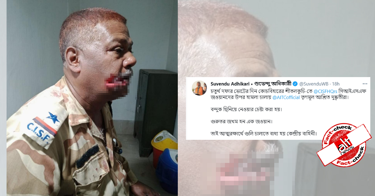 BJP leaders share photo from Jharkhand as CISF jawan injured in West Bengal violence - Alt News