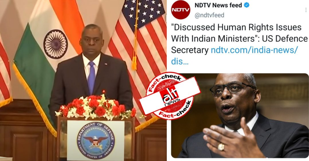 NDTV targeted over reporting on the record statement of US Defense Secretary - Alt News