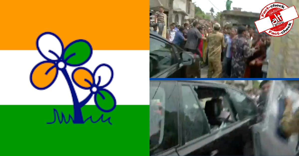 No, BJP MP Locket Chatterjee's car window was NOT broken from inside - Alt News