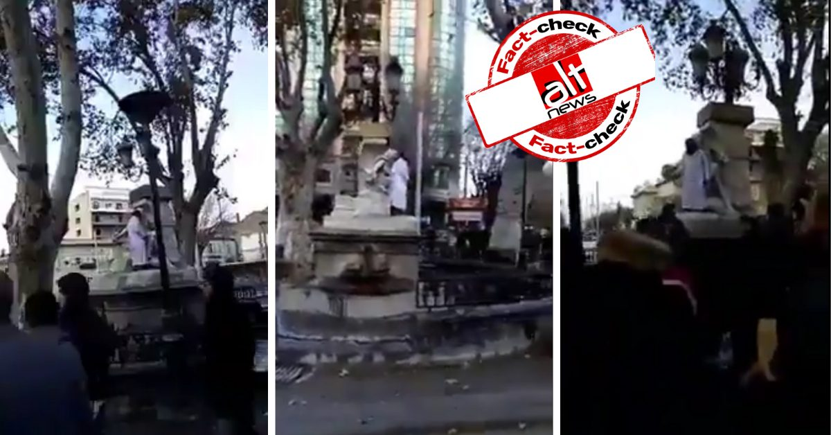 Old video of man vandalising statue in Algeria shared as Italy - Alt News