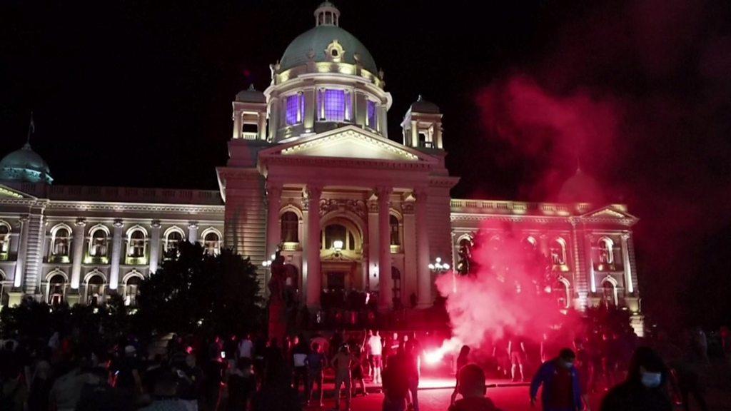 Serbia scraps virus curfew plan after protests