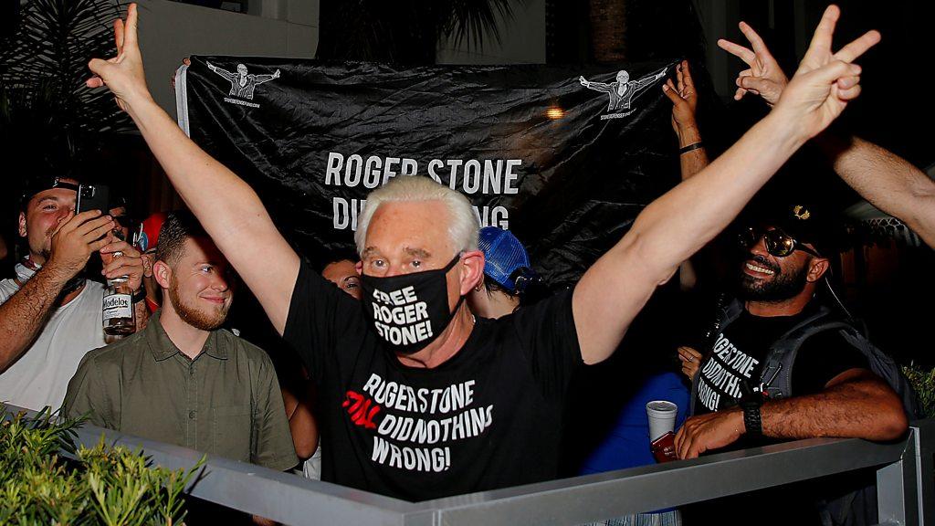 Trump spares ex-adviser Roger Stone from prison