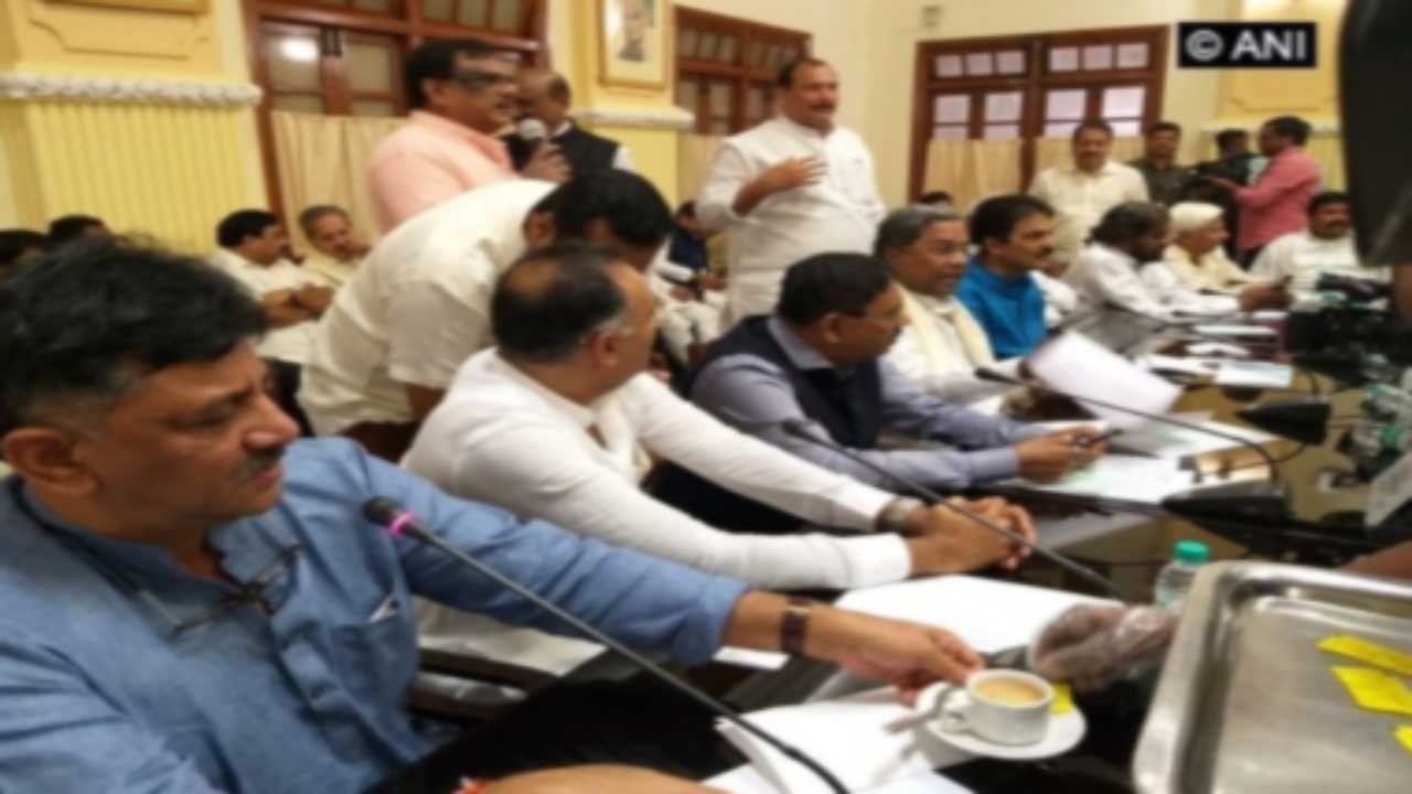 Amid speculation of defections, four of 79 MLAs give Cong legislature party meeting in Karnataka a miss