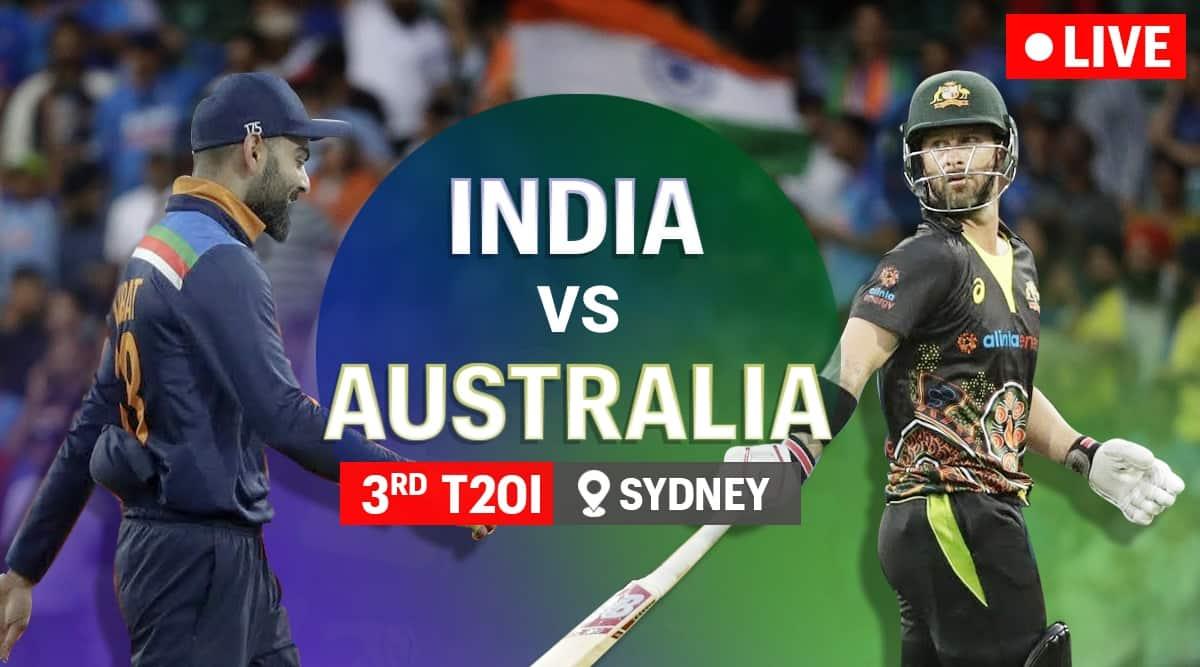 India vs Australia 3rd T20 Live Cricket Score Online: Australia bat first