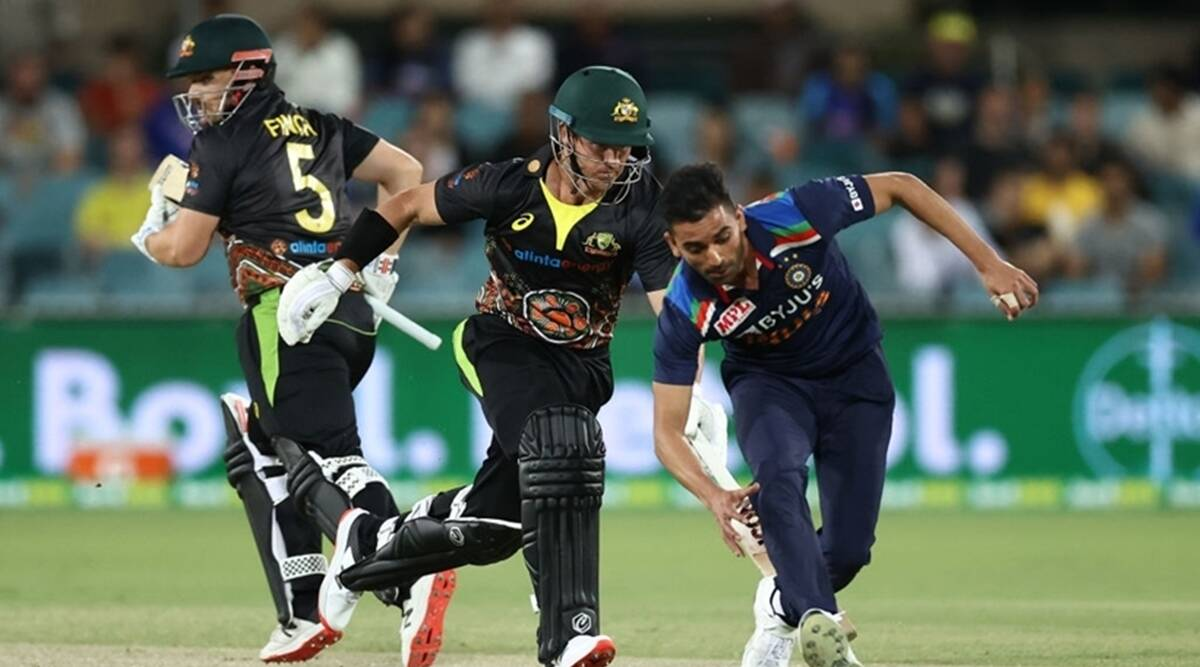 India take lead in Australia T20I series with concussion substitute Chahal's help