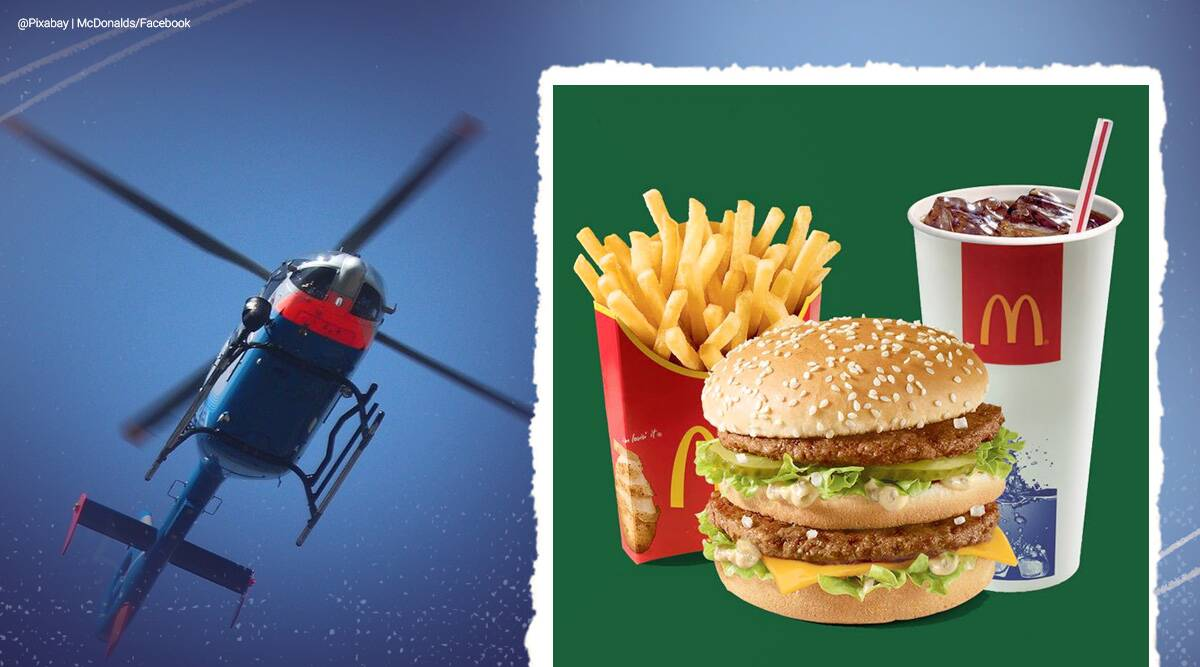 Russian millionaire books helicopter ride during vacation just so he could eat a burger