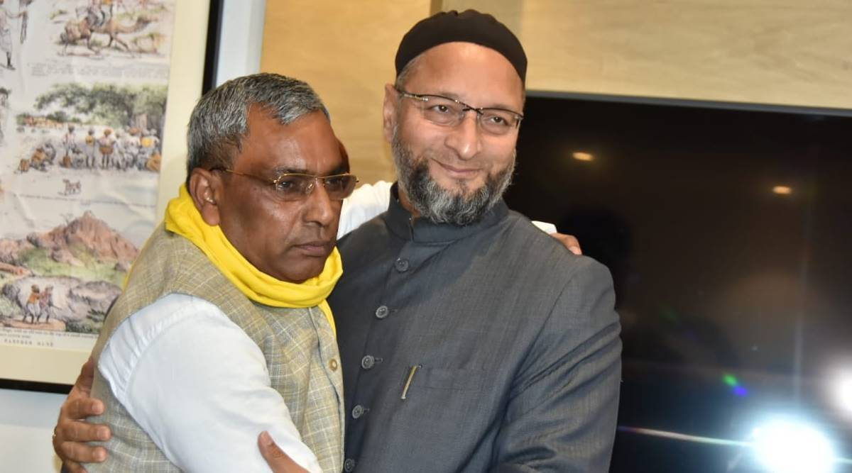 Asaduddin Owaisi seeks to gain foothold in UP, meets SBSP chief OP Rajbhar