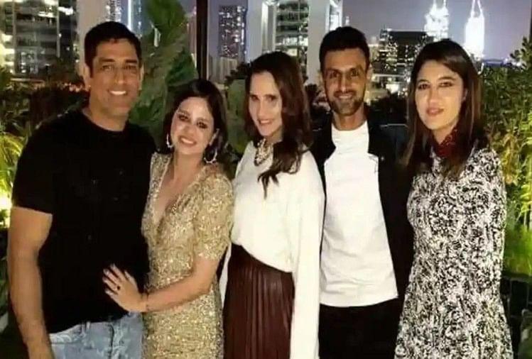 दुबई में साक्षी के जन्मदिन का जश्न, सानिया मिर्जा और शोएब मलिक बने माही के मेहमान