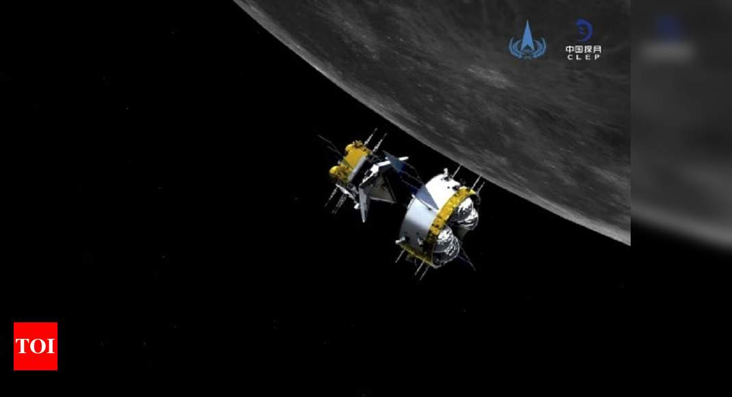 Chinese spacecraft returns to Earth carrying moon rocks - Times of India